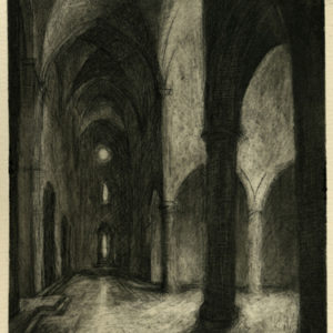 Stillness: Santa Croce, Etching on paper ©Michelle Arnold Paine  PURCHASE