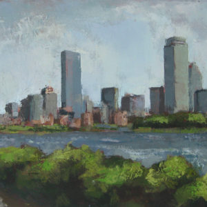 "Boston Skyline ,  15"" x 30"", Oil on Canvas ©Michelle Arnold Paine  SOLD"