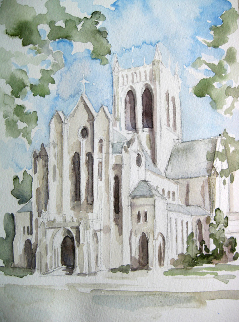 StMary's Watercolor wedding gift