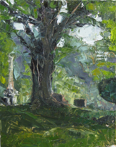 New Landscape Painting: Cemetery
