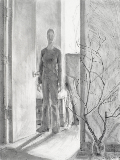 "Opening , Graphite on paper, 50"" x 36"" ©Michelle Arnold Paine"