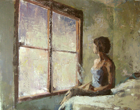 Mary the Dawn oil painting © Michelle Arnold Paine