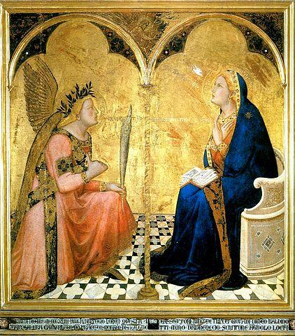 Annunciation, Ambrogio Lorenzetti, 1344