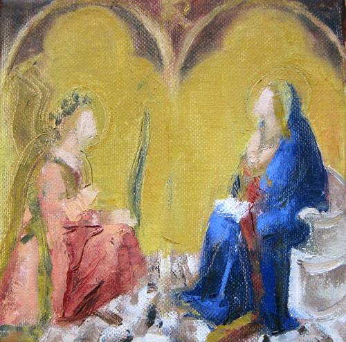 Annunciation after Lorenzetti