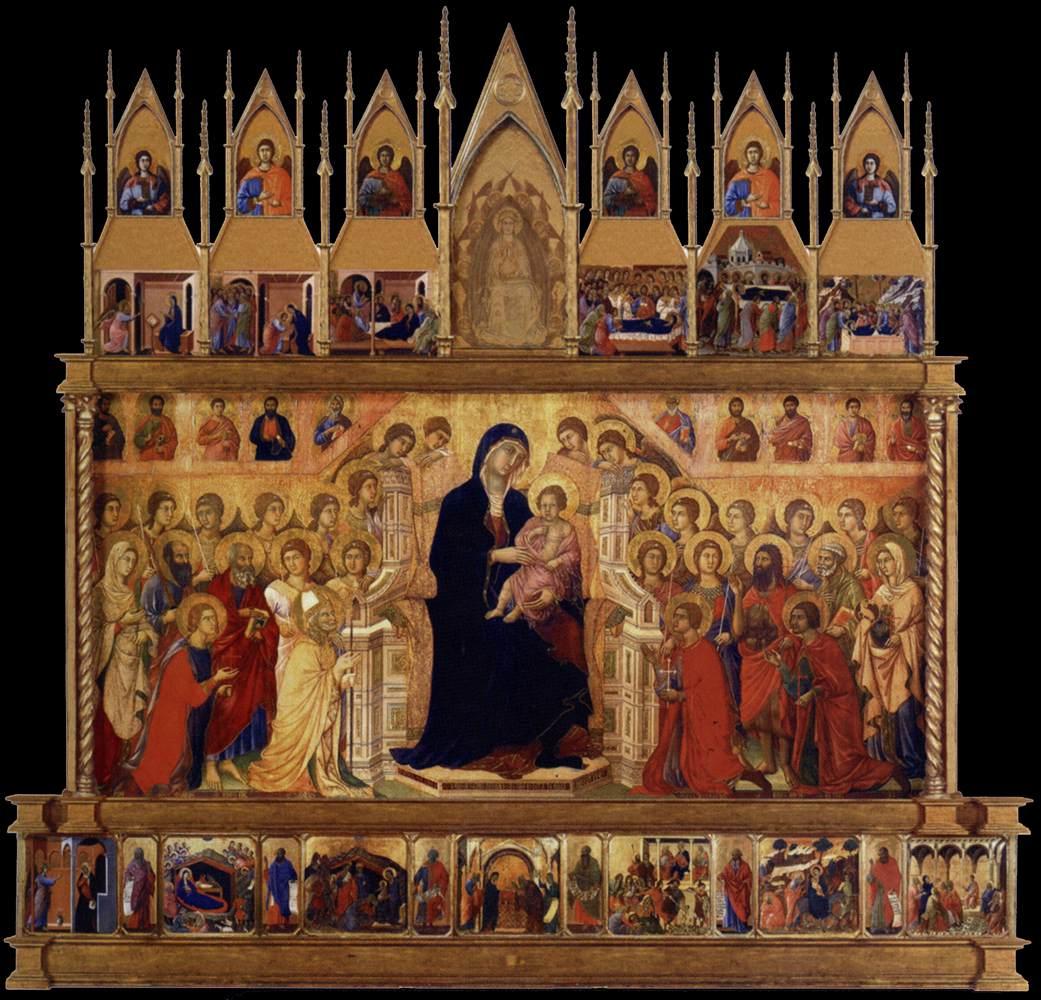 Maesta' by Duccio di Buoninsegna 1311