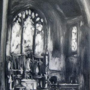 St. Joseph's Altar, Monotype ©Michelle Arnold Paine