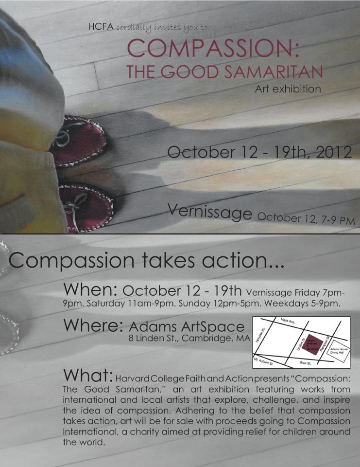 Compassion Exhibit Invite