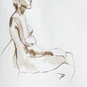 figurative,pen and ink,10x7,price $125