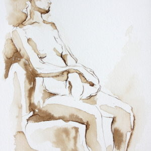 figurative,pen and ink,10x7,price $125,Shaundra Seated 3