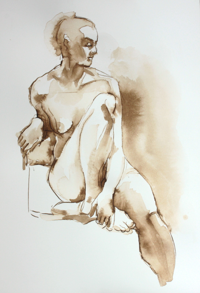 figurative, price $125, 10x7, pen and ink