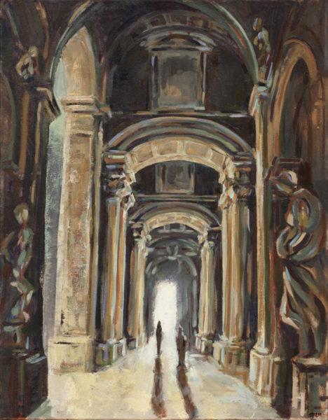 "Pilgrimage: St. Peter's, Oil on Canvas, 30"" x 24"", ©Michelle Arnold Paine 2012"