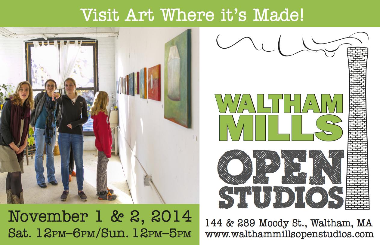 Waltham Mills Open Studios 2014!