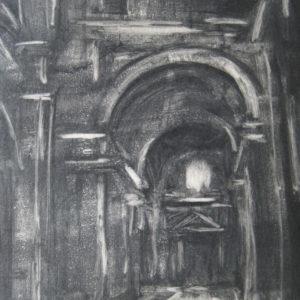 "Depths, Monoprint on Paper, 14"" x 11"" Framed ©Michelle Arnold Paine"