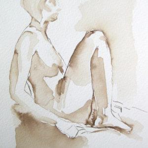 walnut ink figure drawing