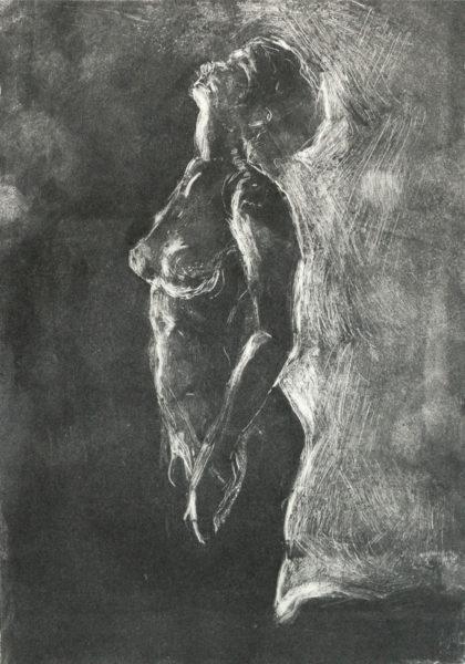 expressive nude monotype spirituality