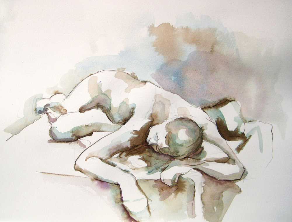 ... of a reclining female figure. I love to explore the line between creating a realistic image and exploring the beauty of the flowing colors on the paper. & Figure Drawings Archives - Michelle Arnold Paine islam-shia.org