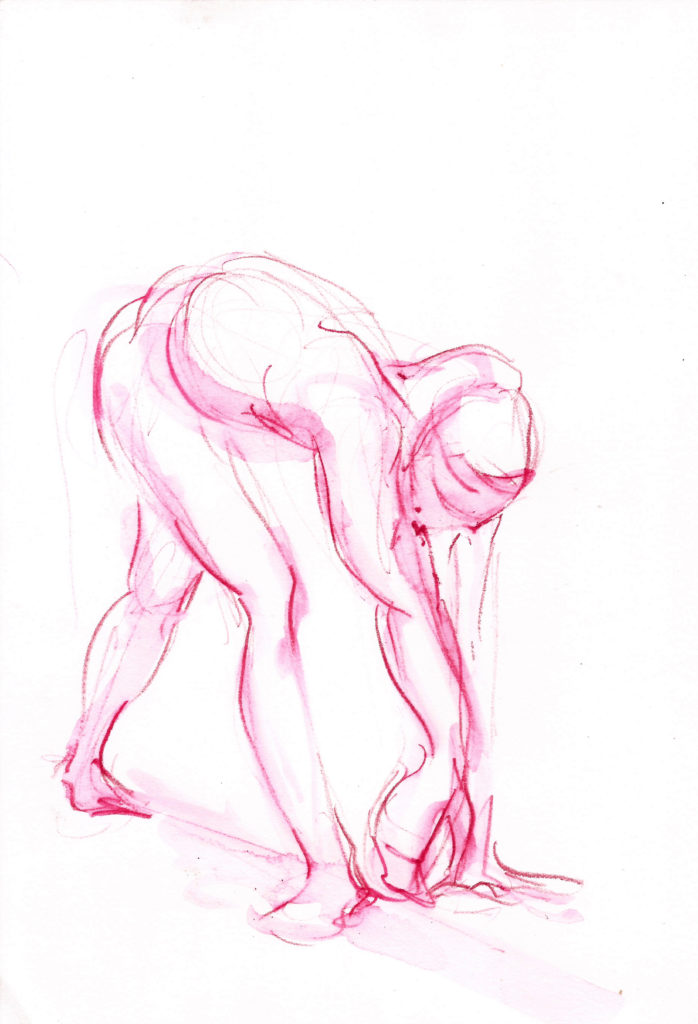 mind-body-spirit connection pink reach drawing