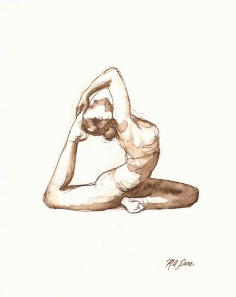 pigeon pose yoga drawing