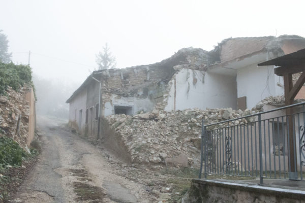 Tana dei lupi home destroyed by earthquake