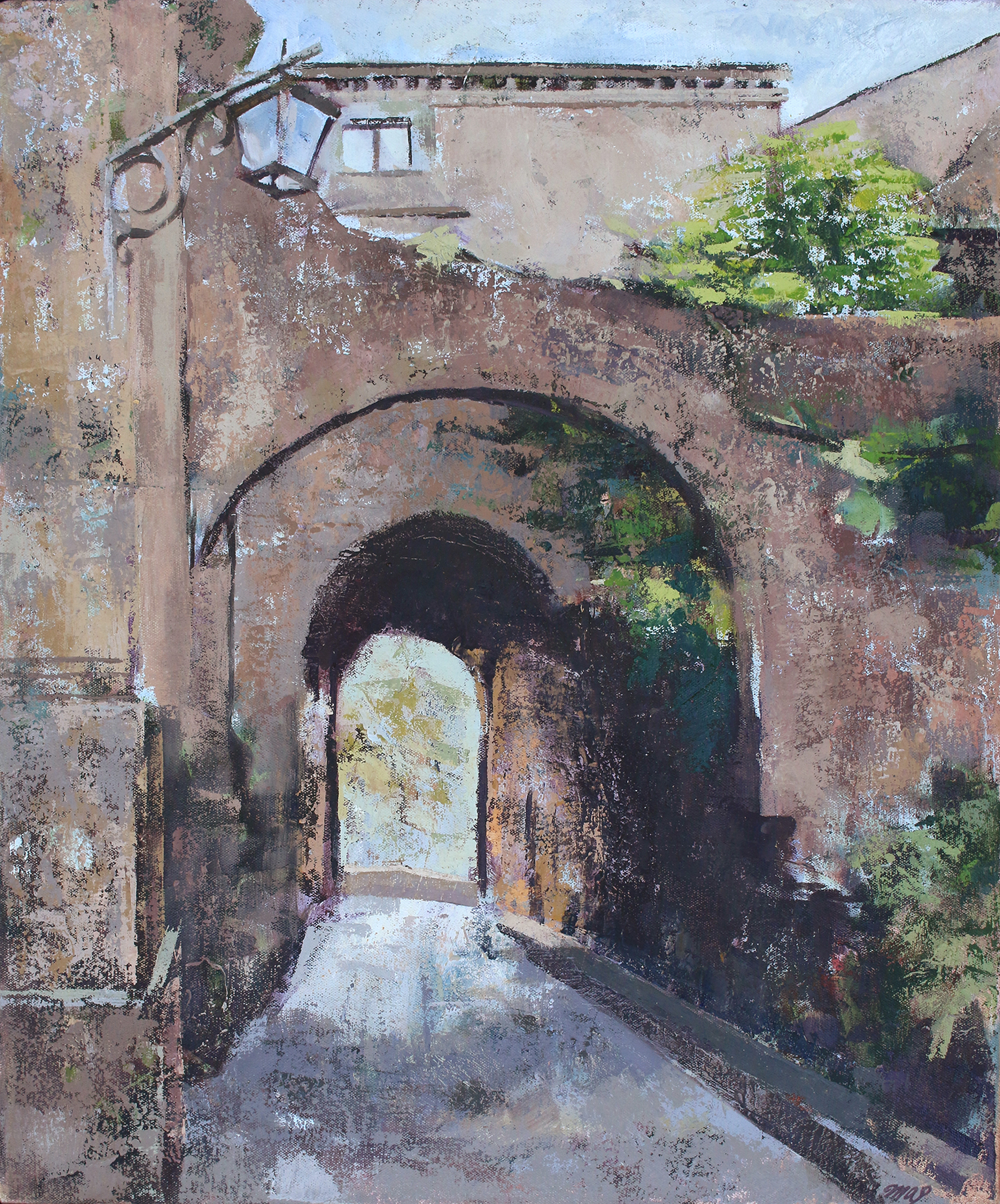 Bagnoregio Painting: Memories and Layers