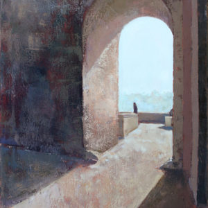 arch way oil painting of italy