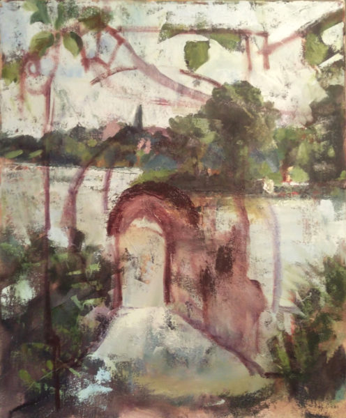 Michelle Arnold Paine landscape painting becomes new architecture painting