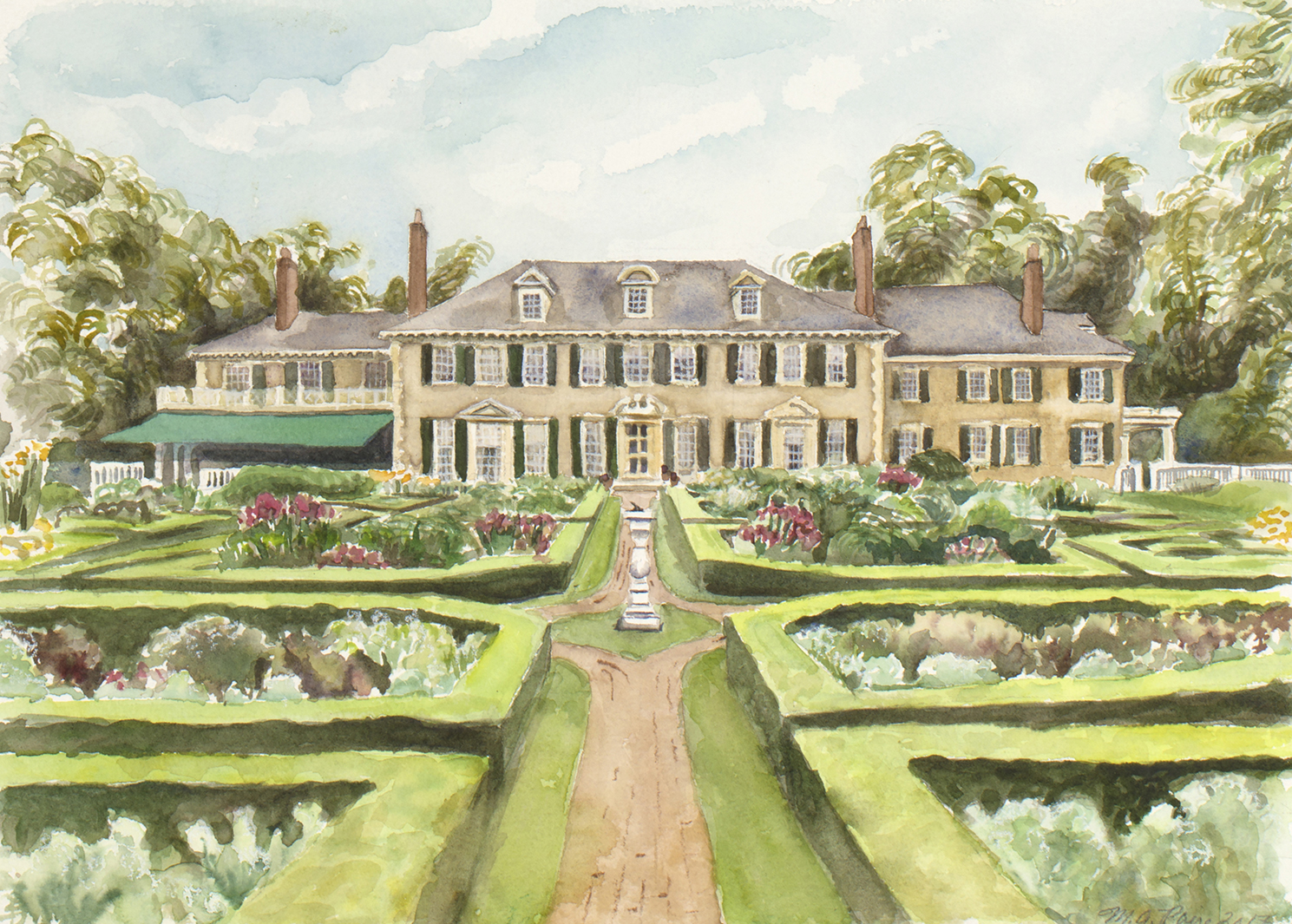 HIldene Wedding Watercolor Painting