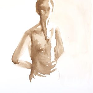 Female Figure Ink Drawing