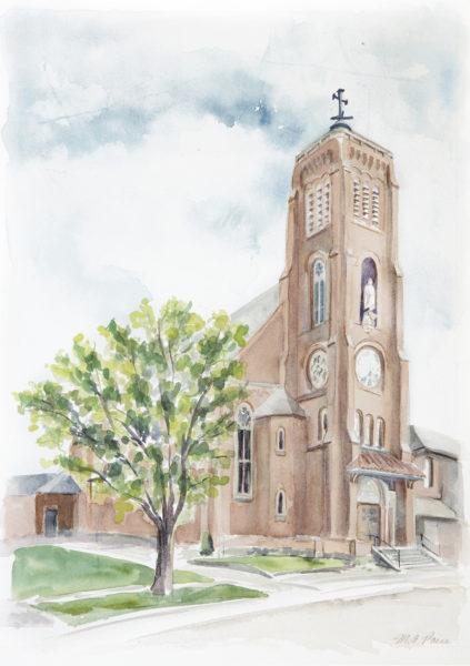 St Joseph Maumee Watercolor