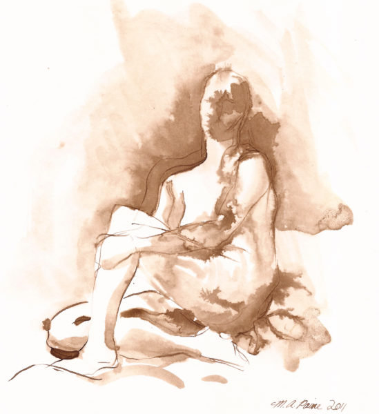 walnut ink figure drawing memory