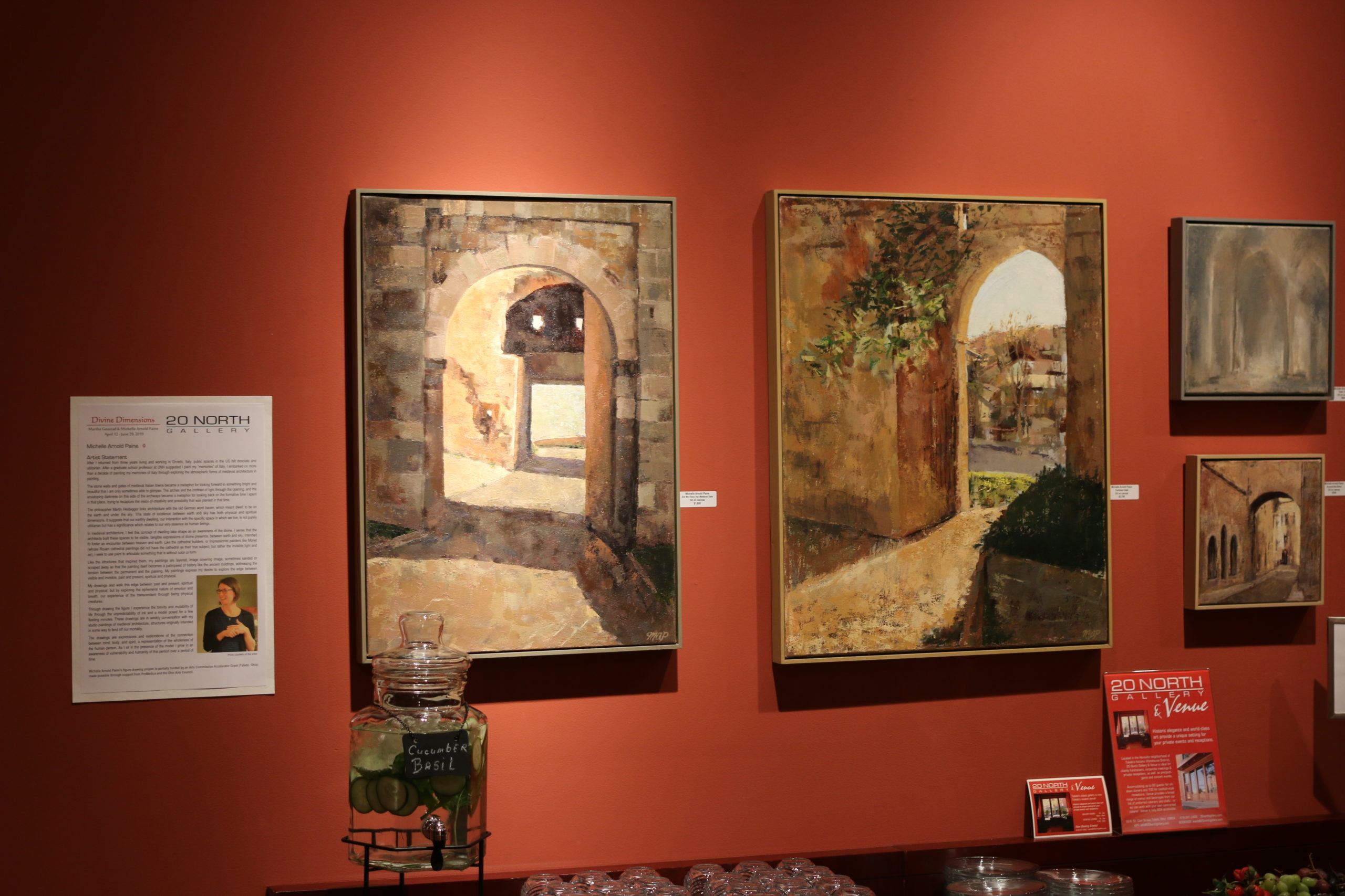 orvieto arch paintings at 20north gallery toledo