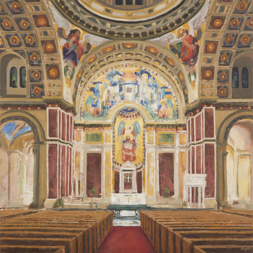 Commissioned Oil Painting of Saint Matthew's Cathedral in Washington DC ©Michelle Arnold Paine 2021